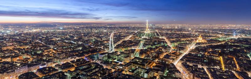 vue de nuit de paris