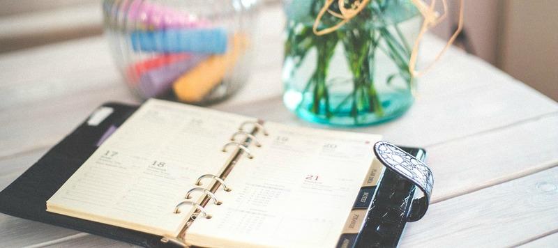 calendrier vase fleurs