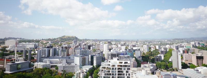 grande ville vue de haut