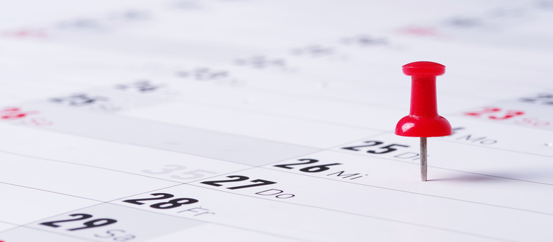 calendrier épingle