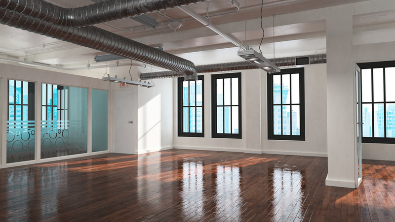 Trendy open plan industrial loft conversion