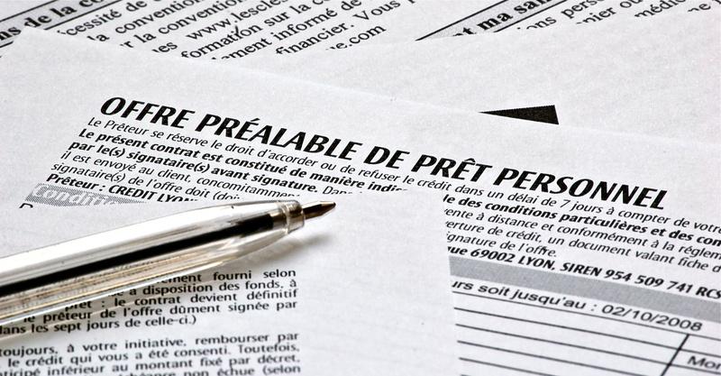 Offre préalable de prêt personnel et stylo