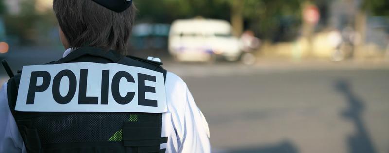 "Panneau ""Police nationale"", France"