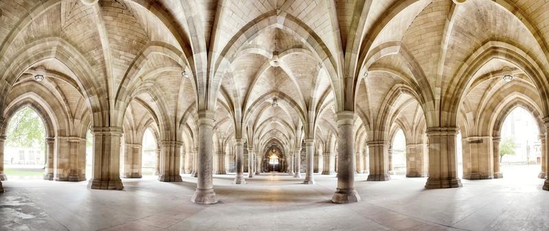Glasgow University Cloisters panorama
