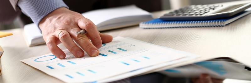 Person Calculate Finance Budget Plan Tax Report