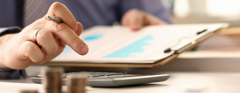 Booker Calculate Finance Budget Tax Report Concept