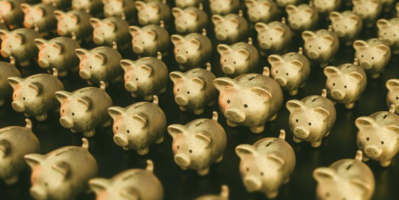 golden Piggy Bank save money investment