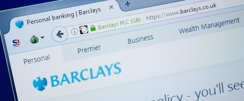 Ryazan, Russia - August 26, 2018: Homepage of Bar Clays website on the display of PC. Url - BarClays.co.uk