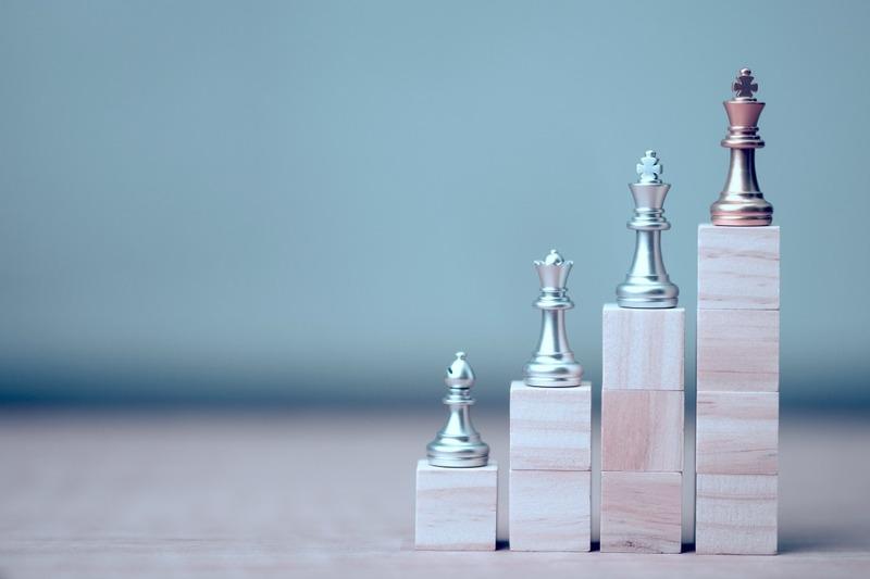golden king chess at winner position